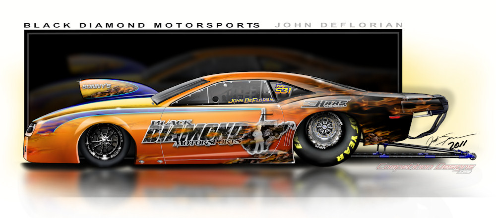 Drag Racing Pro Stock Cars : John deflorian to race black diamond motorsports