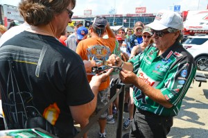 John Force with fans