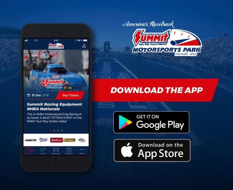 Summit Motorsports Park Launches Mobile App