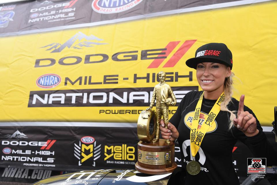 Pritchett Raced to Victory at Dodge Mile-High NHRA Nationals in D…